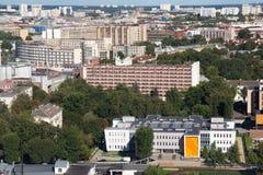 Εναέρια άποψη του νοτιοανατολικού μέρους του Μινσκ με τα παλαιά σοβιετικά κτήρια Στοκ φωτογραφία με δικαίωμα ελεύθερης χρήσης
