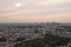 Εναέρια άποψη του ορίζοντα του Τόκιο Στοκ εικόνα με δικαίωμα ελεύθερης χρήσης