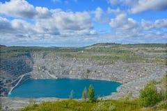 Εναέρια άποψη του ορυχείου Abestos Στοκ φωτογραφίες με δικαίωμα ελεύθερης χρήσης