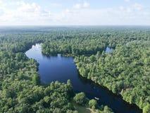Εναέρια άποψη του πάρκου μαρουλιού στην Τάμπα στοκ φωτογραφίες