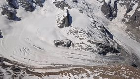 Εναέρια άποψη του παγετώνα Morteratsch, Ελβετία φιλμ μικρού μήκους