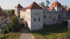 Εναέρια άποψη του παλαιού κάστρου απόθεμα βίντεο