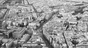 Εναέρια άποψη του Παρισιού Στοκ Εικόνα