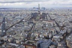 Εναέρια άποψη του Παρισιού Στοκ εικόνες με δικαίωμα ελεύθερης χρήσης