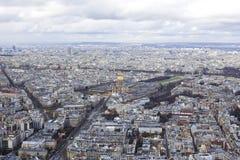 Εναέρια άποψη του Παρισιού Στοκ Φωτογραφία