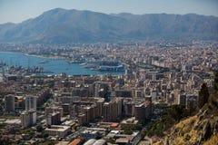 Εναέρια άποψη του Παλέρμου, Ιταλία στοκ εικόνα