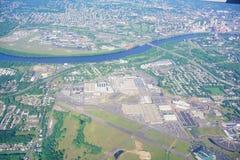 Εναέρια άποψη του ποταμού του Κοννέκτικατ στοκ φωτογραφίες