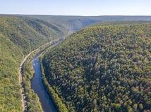 Εναέρια άποψη του ποταμού στοκ φωτογραφίες