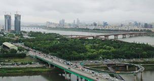 Εναέρια άποψη του ποταμού Han Στοκ φωτογραφίες με δικαίωμα ελεύθερης χρήσης