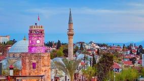 Εναέρια άποψη του πύργου ρολογιών σε Antalya, Τουρκία Στοκ Φωτογραφίες