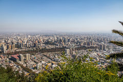 Εναέρια άποψη του Σαντιάγο de Χιλή από το Hill SAN Cristobal - Σαντιάγο, Χιλή στοκ φωτογραφία με δικαίωμα ελεύθερης χρήσης