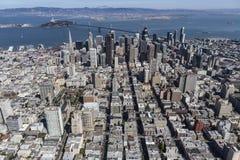 Εναέρια άποψη του Σαν Φρανσίσκο και του Όουκλαντ Καλιφόρνια Στοκ φωτογραφία με δικαίωμα ελεύθερης χρήσης