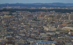 Εναέρια άποψη του Σεντάι, Ιαπωνία στοκ εικόνα