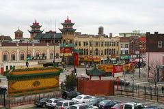 Εναέρια άποψη του Σικάγου Chinatown Στοκ Εικόνες