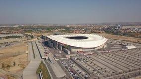 Εναέρια άποψη του σταδίου Wanda Metropolitano στη Μαδρίτη απόθεμα βίντεο