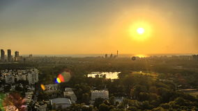 Εναέρια άποψη του Τελ Αβίβ στο ηλιοβασίλεμα απόθεμα βίντεο