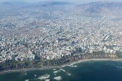Εναέρια άποψη του της Λίμα Περού Στοκ Εικόνα