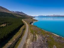 Εναέρια άποψη του τοπίου ΑΜ Cook, Νέα Ζηλανδία Στοκ Εικόνες