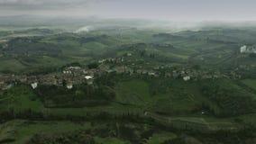 Εναέρια άποψη του τοπίου της Τοσκάνης, Ιταλία απόθεμα βίντεο