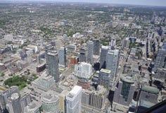 Εναέρια άποψη του Τορόντου από τον καναδικό εθνικό πύργο Στοκ Φωτογραφία