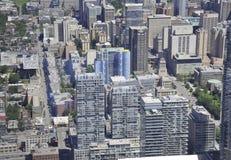 Εναέρια άποψη του Τορόντου από τον καναδικό εθνικό πύργο Στοκ φωτογραφία με δικαίωμα ελεύθερης χρήσης