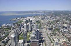 Εναέρια άποψη του Τορόντου από τον καναδικό εθνικό πύργο Στοκ εικόνες με δικαίωμα ελεύθερης χρήσης