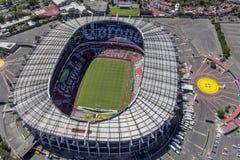 Εναέρια άποψη του των Αζτέκων σταδίου ποδοσφαίρου της Πόλης του Μεξικού Στοκ φωτογραφία με δικαίωμα ελεύθερης χρήσης