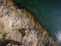 Εναέρια άποψη του υποβάθρου coastlime στοκ εικόνες