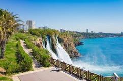Εναέρια άποψη του χαμηλότερου καταρράκτη Duden σε Antalya, Τουρκία Στοκ φωτογραφία με δικαίωμα ελεύθερης χρήσης