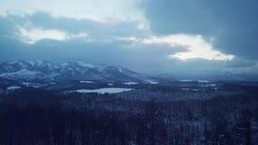 Εναέρια άποψη του χειμώνα Hokkaido φιλμ μικρού μήκους