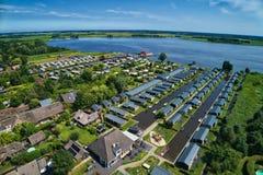 Εναέρια άποψη του χωριού Giethoorn στις Κάτω Χώρες στοκ εικόνες