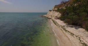 Εναέρια άποψη του ωκεανού στην Ελλάδα φιλμ μικρού μήκους