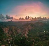 Εναέρια άποψη του όμορφου κόλπου Phang Nga στην Ταϊλάνδη Στοκ Εικόνες