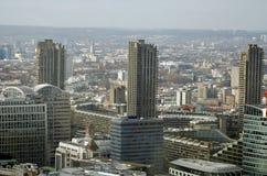 Εναέρια άποψη του Barbican, πόλη του Λονδίνου Στοκ Φωτογραφία