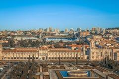 Εναέρια άποψη του DOS Jeronimos, Λισσαβώνα, Πορτογαλία Mosteiro Στοκ Φωτογραφία