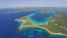 Εναέρια άποψη του Veli Rat στο αδριατικό νησί Dugi Otok φιλμ μικρού μήκους