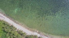 Εναέρια άποψη τυρκουάζ ωκεάνιο και στενό Palm Beach απόθεμα βίντεο