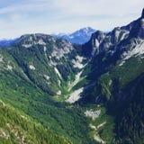 Εναέρια άποψη των βουνών στο Βανκούβερ, Βρετανική Κολομβία, Καναδάς Στοκ εικόνες με δικαίωμα ελεύθερης χρήσης