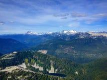 Εναέρια άποψη των βουνών στο Βανκούβερ, Βρετανική Κολομβία, Καναδάς Στοκ φωτογραφία με δικαίωμα ελεύθερης χρήσης