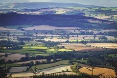 Εναέρια άποψη των βρετανικών τομέων επαρχίας στοκ εικόνες