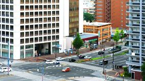 Εναέρια άποψη των κτηρίων ξενοδοχείων στο κέντρο του Φουκουόκα, Ιαπωνία φιλμ μικρού μήκους