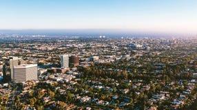 Εναέρια άποψη των κτηρίων σε κοντινό Wilshire Blvd σε Westwood, Λα Στοκ φωτογραφίες με δικαίωμα ελεύθερης χρήσης