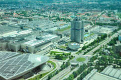 Εναέρια άποψη των κτηρίων της BMW Στοκ Εικόνες