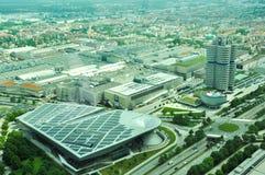 Εναέρια άποψη των κτηρίων της BMW Στοκ Φωτογραφία