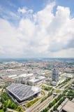 Εναέρια άποψη των κτηρίων της BMW Στοκ φωτογραφία με δικαίωμα ελεύθερης χρήσης