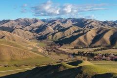 Εναέρια άποψη των κυλώντας λόφων στην περιοχή Marlborough, της Νέας Ζηλανδίας στοκ φωτογραφία με δικαίωμα ελεύθερης χρήσης