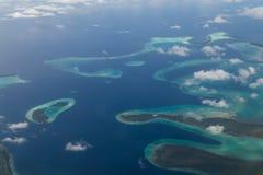 Εναέρια άποψη των νήσων του Σολομώντος στοκ εικόνες