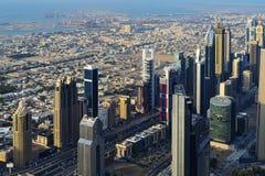 Εναέρια άποψη των ουρανοξυστών του World Trade Center του Ντουμπάι Στοκ φωτογραφίες με δικαίωμα ελεύθερης χρήσης
