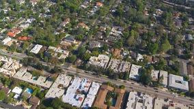 Εναέρια άποψη των προαστίων Καλιφόρνια του Λος Άντζελες απόθεμα βίντεο
