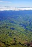 Εναέρια άποψη των σειρών καλλιεργήσιμου εδάφους και Ruahine κόλπων Hawkes Στοκ φωτογραφία με δικαίωμα ελεύθερης χρήσης